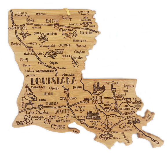 Destination Cutting Board - Louisiana