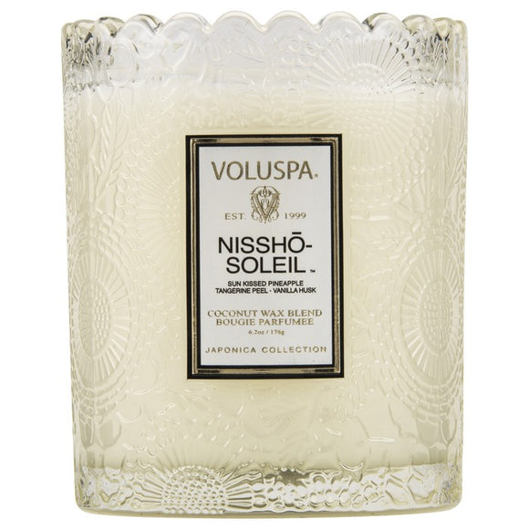 Voluspa Scalloped Edge Jar 6.2 oz candle - Nissho-Soleil