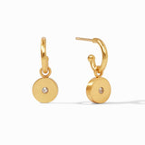 Julie Vos Earrings  - Poppy Hoop & CZ Charm