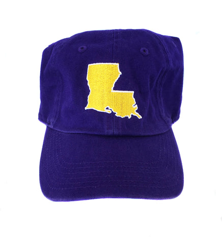 Louisiana Hat- Purple