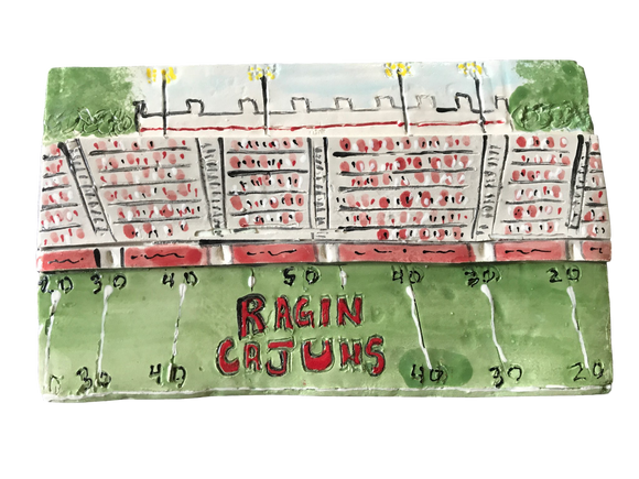 Louisiana Plaques - Ragin Cajuns Football UL