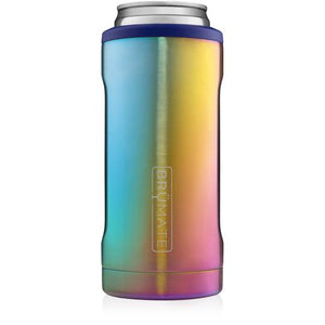 Brumate Slim Can Cooler - Rainbow Titanium