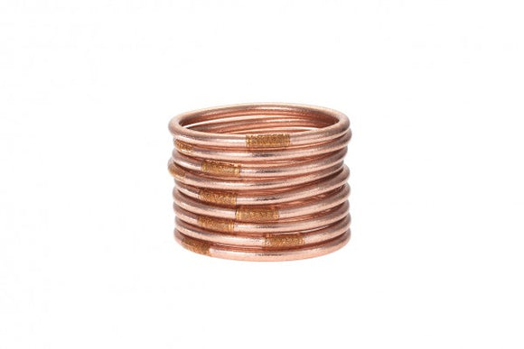 BuDhaGirl All Weather Bangles - Rose Gold