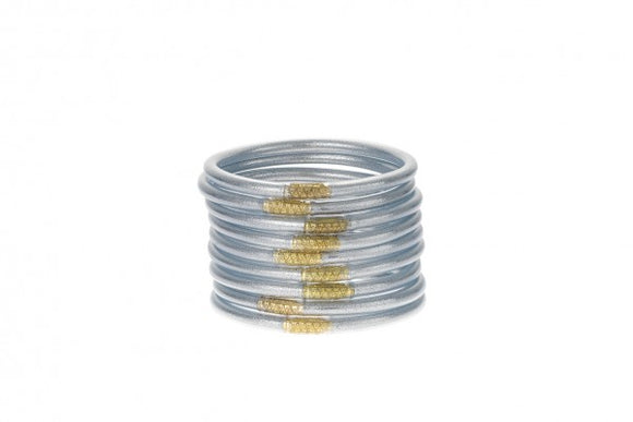 BuDhaGirl All Weather Bangles - Silver