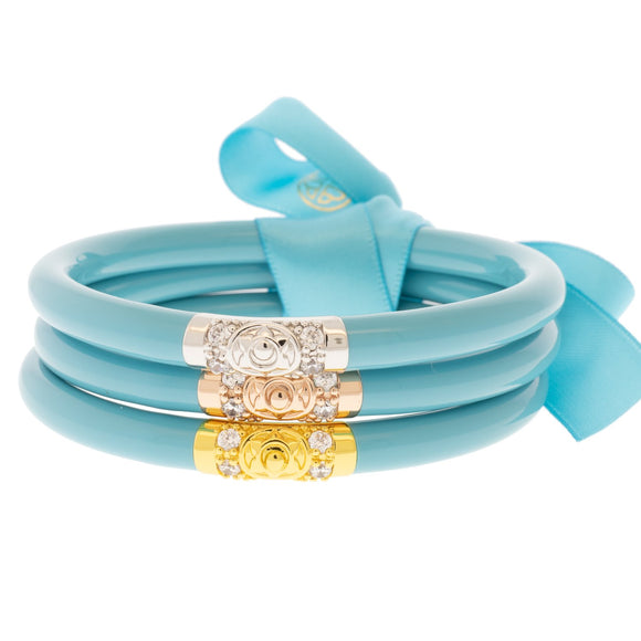 BuDhaGirl All Weather Bangles - Turquoise Three Kings