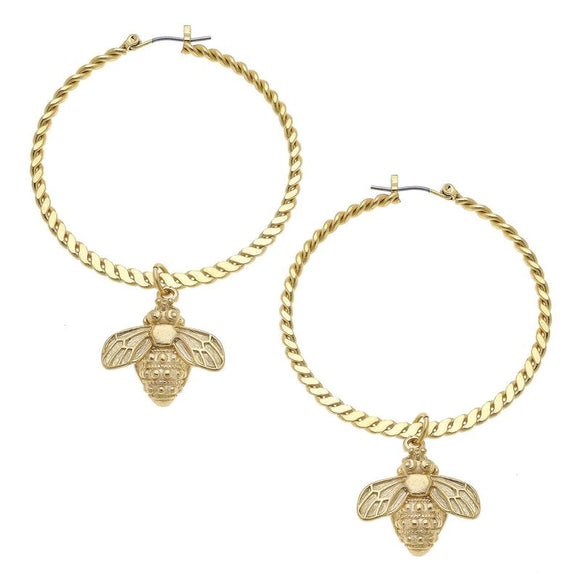 Earrings - Bee Hoops