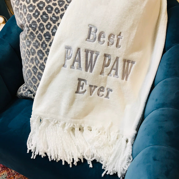 Blanket - Best Paw Paw Ever