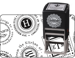 Personalized Stamp - Floral