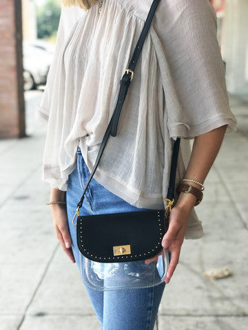 Clear Purse - Black Studded