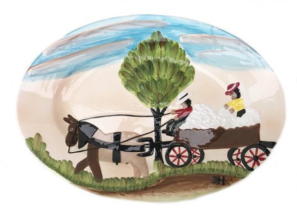 Clementine Hunter Ceramics - Cotton Wagon