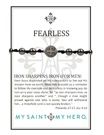 Benedictine Blessing Bracelet - Fearless Iron (For Men)