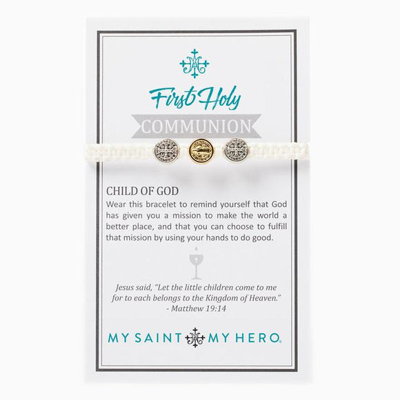 First Holy Communion Child of God Bracelet - White