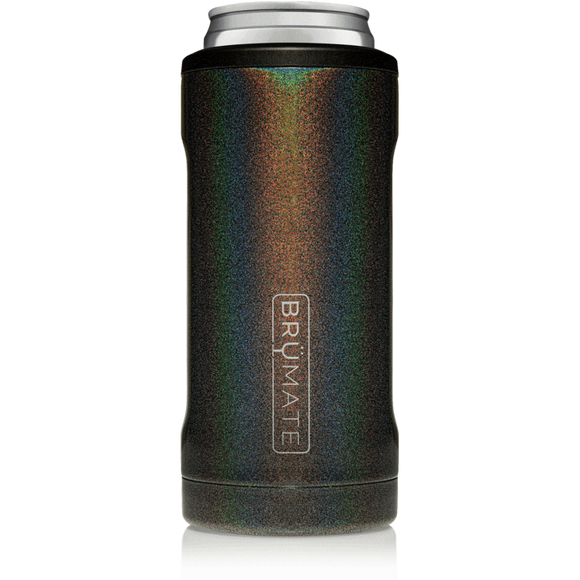 Brumate Slim Can Cooler - Glitter Charcoal