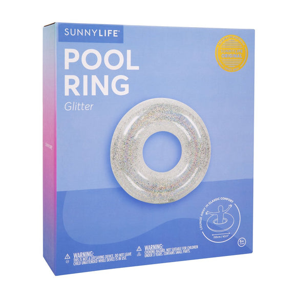 Inflatable Glitter Pool Ring