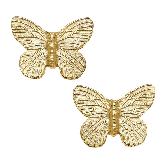 Earrings - Gold Butterfly Studs