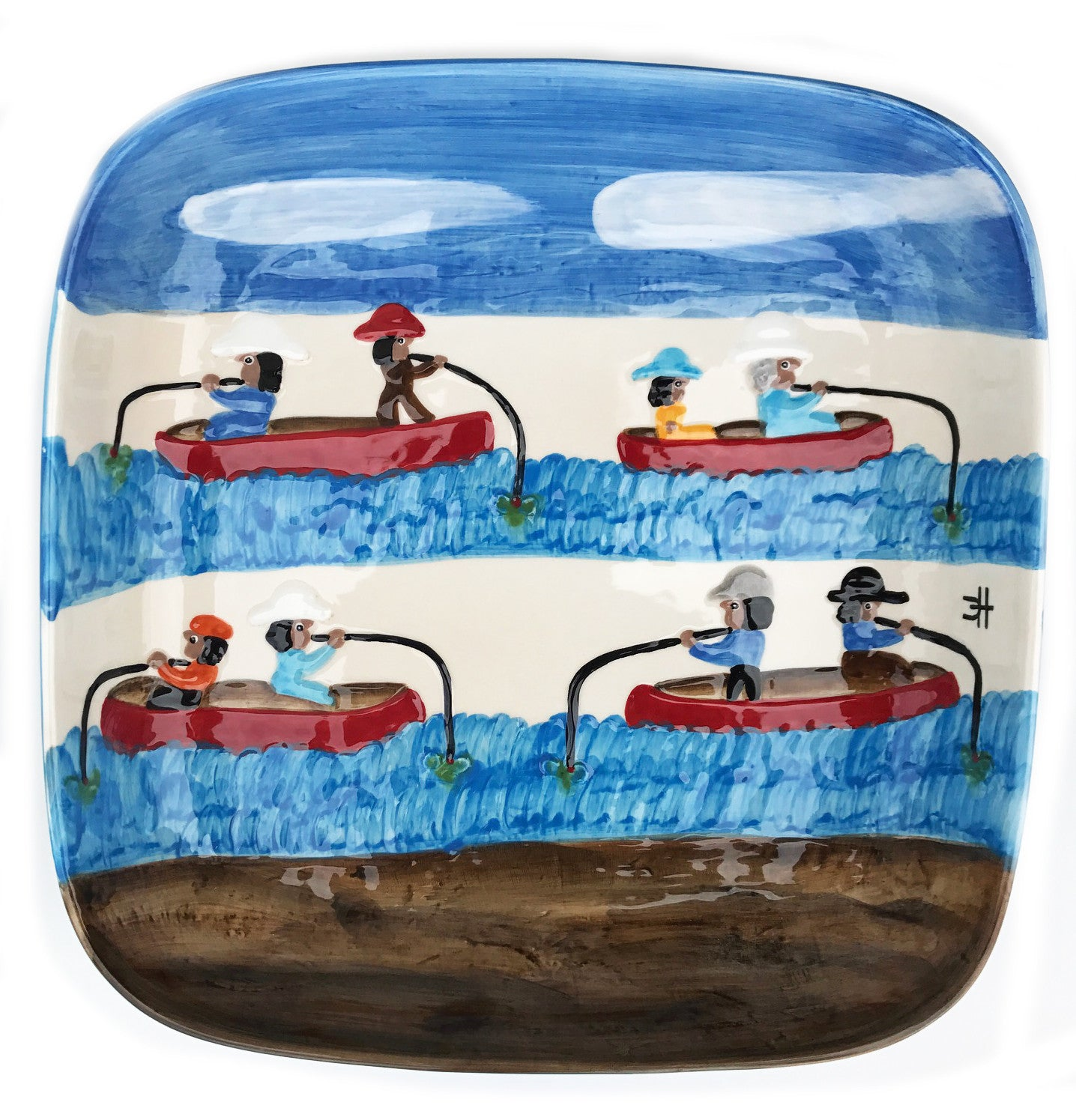 Clementine Hunter Ceramics - Gone Fishing
