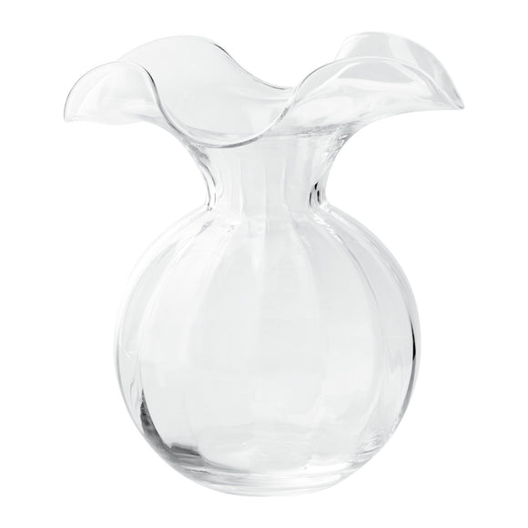 Vietri Hibiscus Clear Vase - Medium