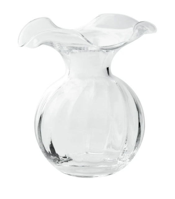 Vietri Hibiscus Clear Vase - Small