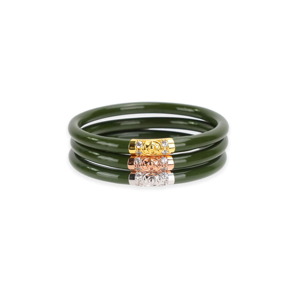 BuDhaGirl Three Kings Bangles - Jade