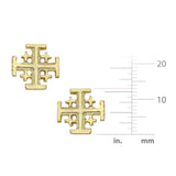 Earrings - Jerusalem Cross Stud
