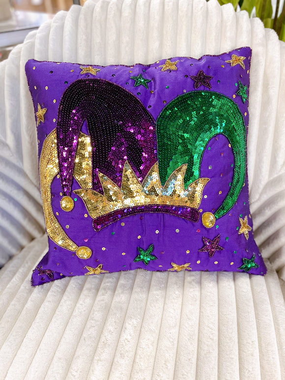 Mardi Gras Pillow - Jester