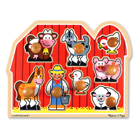 Knob Puzzle - Farm Friends
