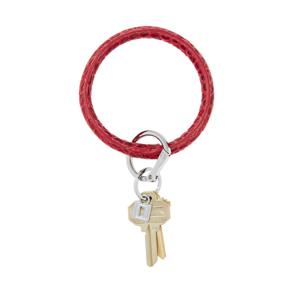 Big O Key Ring Leather - Cherry On Top Croc