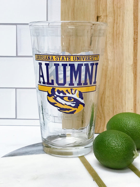 LSU Pint Glass - ALUMNI