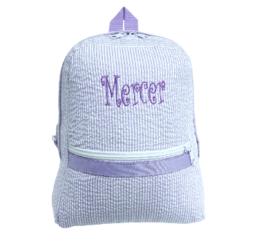 Seersucker Backpack - Lilac