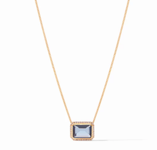 Julie Vos Necklace - Azure Blue Clara Luxe
