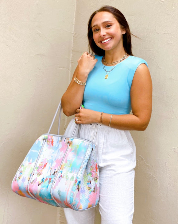 Neoprene Tote - Watercolor Brooks
