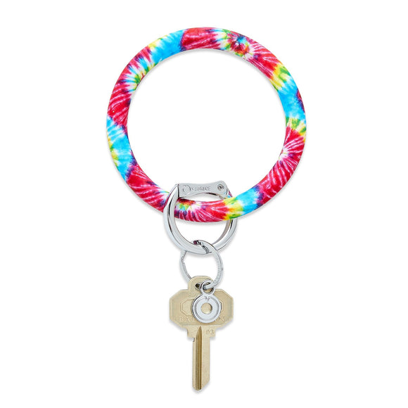 Big O Key Ring Silicone - Rainbow Tye Dye