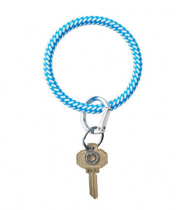 Big O Key Ring Leather - Peacock Riviera