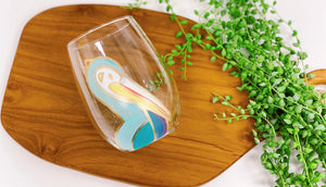 Pelican Wine Glass - Blue