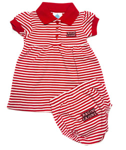 Striped Dress with Bloomers - Ragin Cajuns