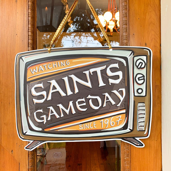 Door Hanger - Saints Game Day