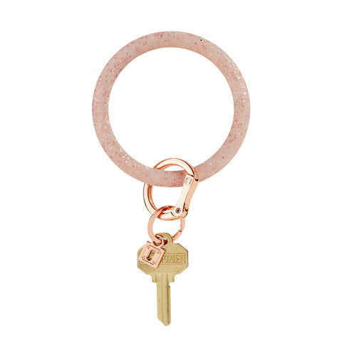Big O Key Ring Silicone - Rose Gold Confetti