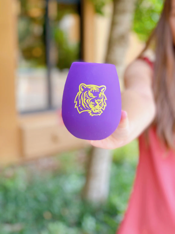 Silicone Wine Glass - Tigers