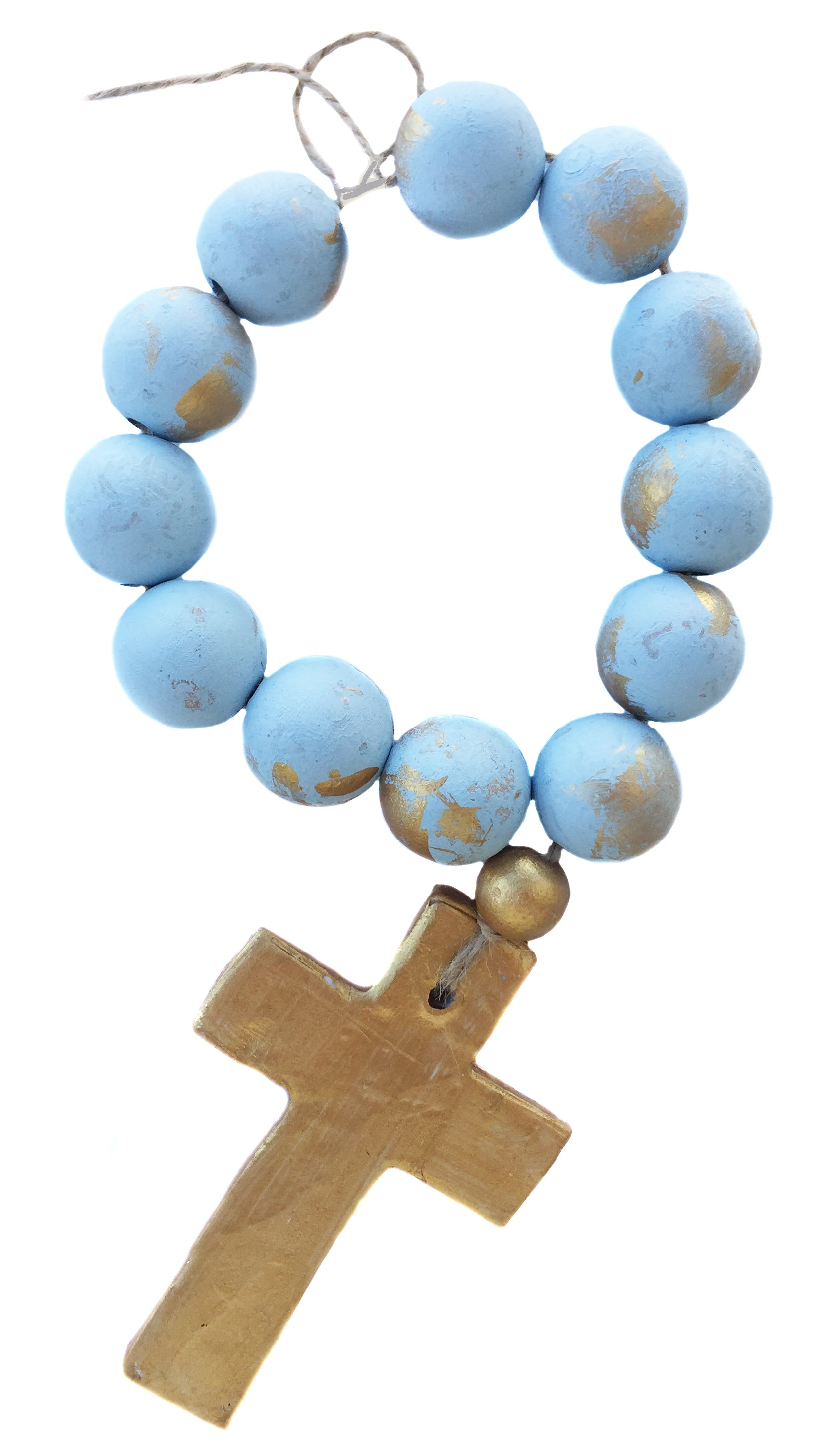 Small Blessing Beads - Light Blue