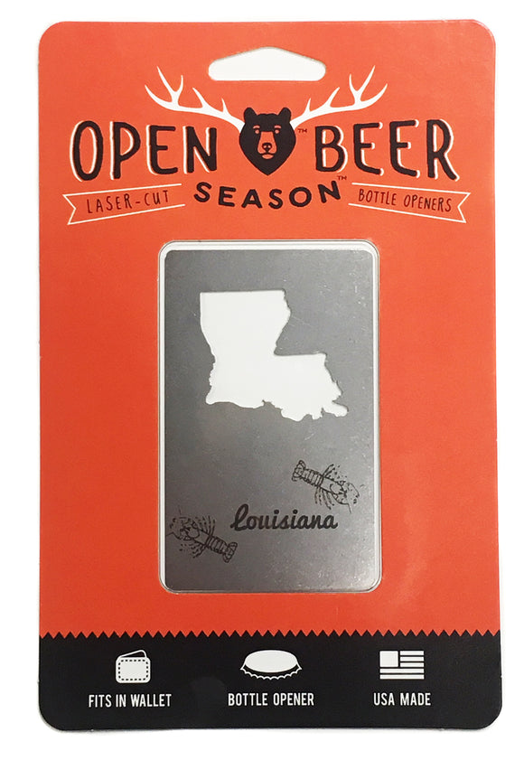 Wallet Bottle Opener - Louisiana