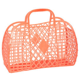 Sun Jellies Retro Basket - Neon Orange