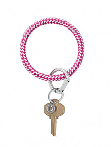 Big O Key Ring Leather - Tickled Pink Riviera