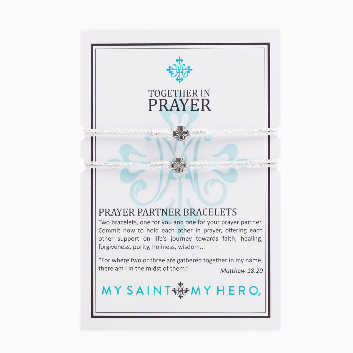 Bracelets -Together in Prayer Metallic Silver
