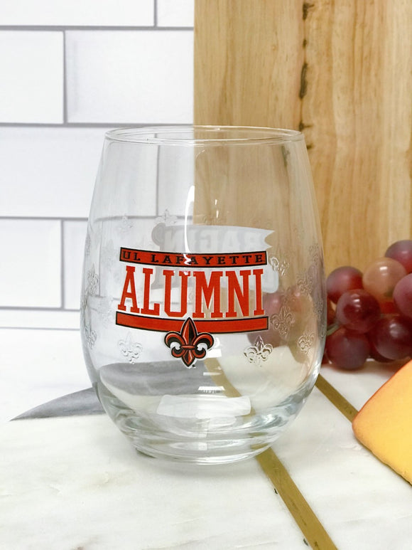 UL Stemless Wine Glass - ALUMNI