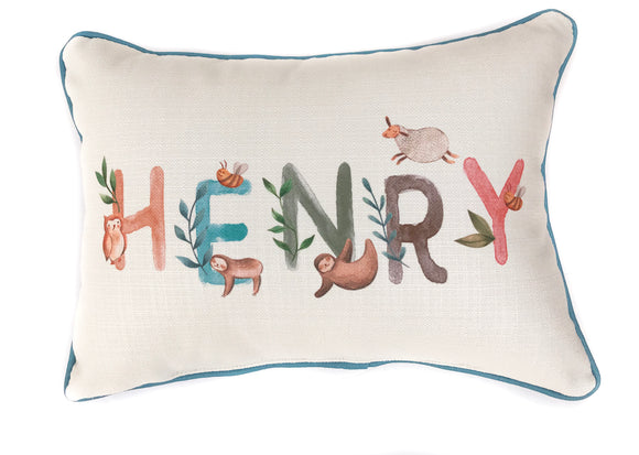 Baby Name Pillow  - Woodland Boy