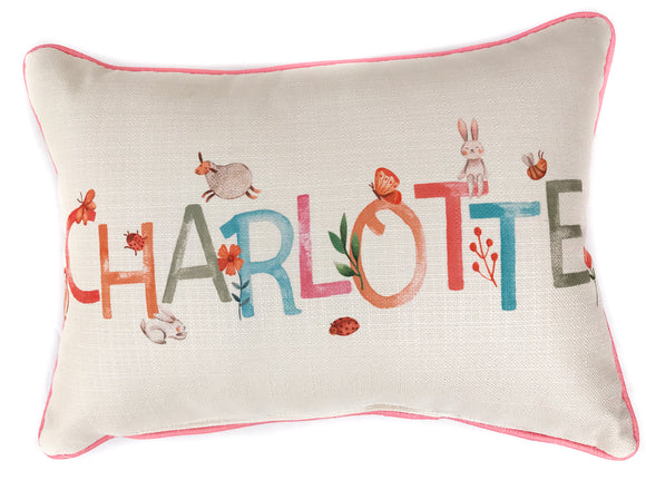 Baby Name Pillow  - Woodland Girl