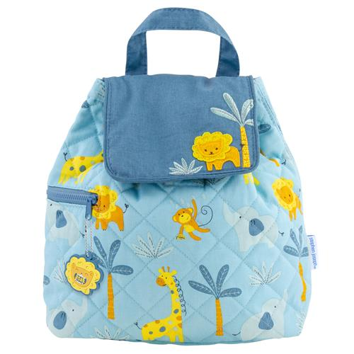 Stephen Joseph Quilted Backpack - Boy Zoo