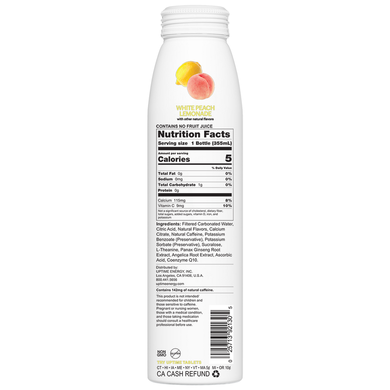 White Peach Lemonade Sugar Free 12 Ct.