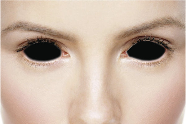 Blackout contacts blind black sclera contacts have