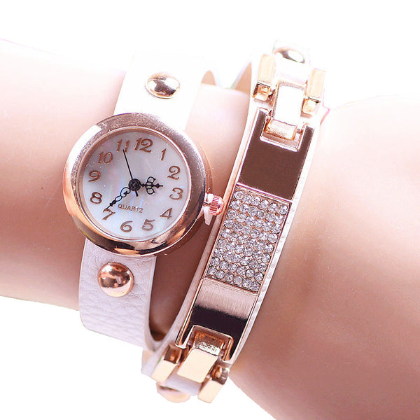 White 2 Strap Watch - ColourYourEyes.com